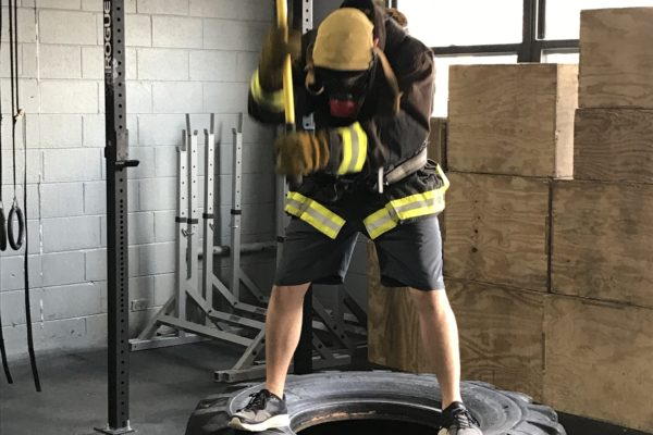 working with the sledge hammer for forcible entry